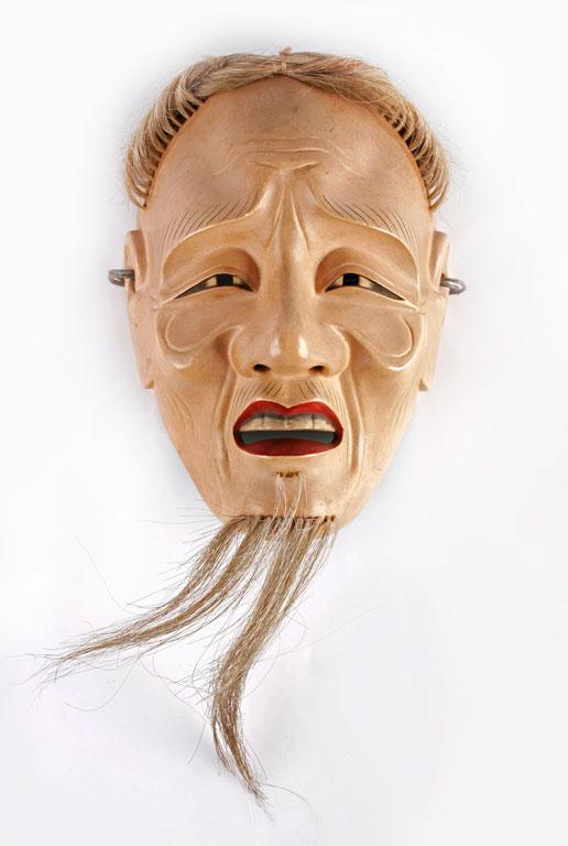 Máscara de viejo del Teatro Noh