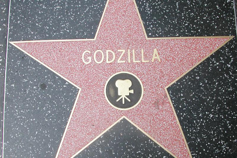 Estrella de Godzilla en el paseo de la fama